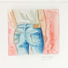 fashion drawing levi's watercolor marinamuse @marinamusestudio graphic design Watercolor, Graphic Design, Guys, Drawings, Illustration, Painting, Instagram, Fashion, Pen And Wash