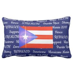 Puerto Rico Strong Hurricane Maria 2017 Pillow - decor gifts diy home & living cyo giftidea