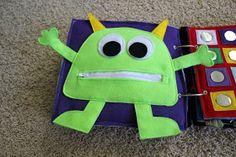 >>>>Sweet Juicy April: Baby Quiet Books. Baby sensory book DIY