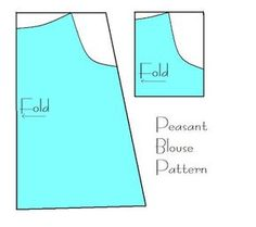 indietutes: peasant blouse or dress tutorial and pattern.  Shows you how to draft your own pattern based on your child's measurements