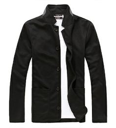 Men 's Casual Blazer with Front Pockets