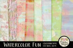 Watercolor Paint Texture Backgrounds by Clikchic Designs on Creative Market