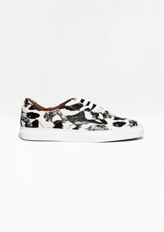 & Other Stories | Painterly Leather Sneakers.