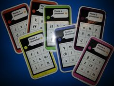 Phone a phoneme! New phonic game I made for our Reception children using Phase 2/3 letters and sounds. Ask the children to 'phone' the phoneme you call out by pressing the corresponding grapheme. Great game for pairs and small groups, brilliant quick assessment. Look out for Phase 3 phones soon...! LG☆