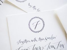 Black And White Wedding Ideas Calligraphy Elegant Formal Invitations Paper Goods