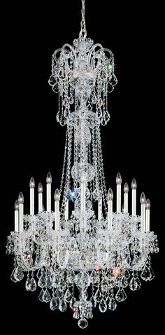 Chandelier $16137.   I like this without all them candle wand sticking up in the air.  I have the very white light bulbs to substitute for the candle....repinned by A.K.