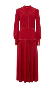 Lara Heavy Crepe Dress by Vilshenko for Preorder on Moda Operandi