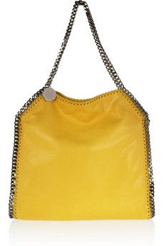 Stella McCartney - The Falabella faux brushed-leather shoulder bag