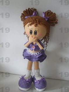 "Fun foam ""Cindy"" doll...love the piggy tails...photos/patterns"