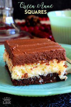Cookie Desserts, Just Desserts, Cookie Recipes, Delicious Desserts, Dessert Recipes, Yummy Food, Camp Desserts, Brownie Recipes, Christmas Desserts