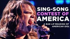 """""""SING-SONG CONTEST OF AMERICA"""" — A Bad Lip Reading of American Idol"""