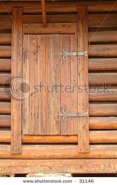primitive cabin door & Perfect primitive door with cast iron strap hinges.   Primitive ...