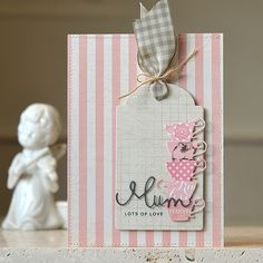 Lots Of Love To Mum #card by Lucy Abrams #papercrafts