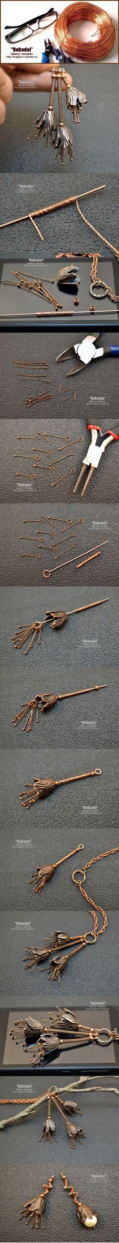 Handmade jewelry with tulip style bead caps