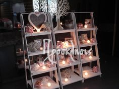 wedding decoration candy bar in stairs