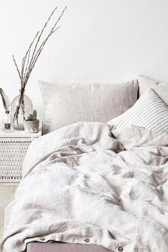 Bed Sheets Organic Bunny Bedding Assembly Home Dilan Confetti Duvet Cover Melange Stone Washed Linen Duvet Cover via Washed Linen Duvet Cover, Bed Linen Sets, Linen Pillows, Linen Bedding, Bedding Sets, Bed Linens, Luxury Duvet Covers, Luxury Bedding, Bed Duvet Covers