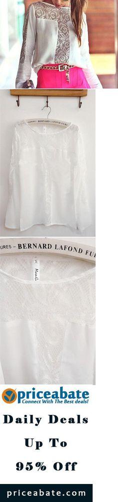 #blackfriday #blackfridaydeals #blackfridaysales Fashion Women's Lace Crochet Loose Chiffon Tops Long Sleeve Shirt Casual Blouse - Buy This Item Now For Only: $10.44