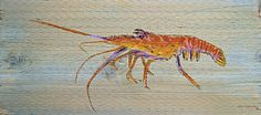 Florida Watercolor Painting - Florida Lobster by Ken Figurski