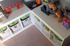 Toy Storage like that the corner now becomes great spot for stuffed animal or adult help toys