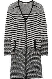 Etro Two-tone cotton cardigan, Etro taps this season's monochrome trend with its cotton cardigan. Knitted with contrasting black and white yarns, it has a medium weight that makes it a great alternative to a jacket. Layer yours over a shirt or tee. Cotton Cardigan, Cashmere Cardigan, Cashmere Sweaters, Sweater Cardigan, Long Sweaters, Cable Knit Sweaters, Sweaters For Women, Discount Designer Clothes, Wearing Black