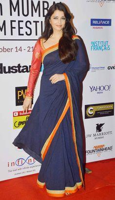 Aishwarya Rai Bachchan at the opening ceremony of the 16th Mumbai Film Festival.