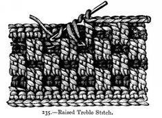 raised treble stitch ~