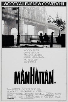 """Love Woody Allen's black and white movie, Manhattan, and all the great NYC images. Living in CA now, I get so so excited to see movies with Manhattan depicted in them. I'm aways whispering to my friends, """"I lived there...I've been there...I know that place...I used to go running there..."""" Like it's MY city!!!"""