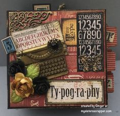 PB Mini (cover/face) - Graphic 45: Typography - by Ginger Ropp, My Sisters Scrapper