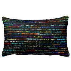 Drexel Hill Text Design I Lumbar Pillow