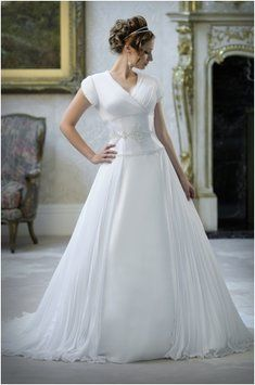 1000 images about modest wedding gowns on sale on for Temple ready wedding dresses