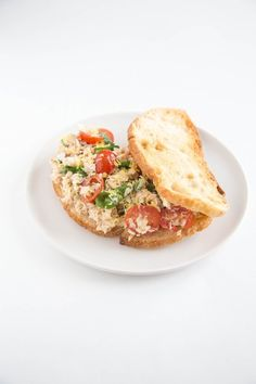 No more boring tuna salad sandwiches for lunch. Bust the monotony with one of these 5 easy ways to make a tastier tuna salad sandwich, including this Lemony Tomato & Basil Tuna Salad.