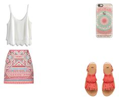 coral b by r2005g on Polyvore featuring moda, Chicwish, Accessorize and Casetify