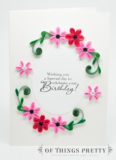 Handmade Birthday Card Ideas For Friends Paper Quilling