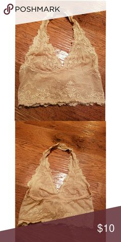 Nude halter bralett Fits 32/34 B comfortably Intimates & Sleepwear Bras