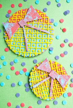 How to make colorful bow #cookies