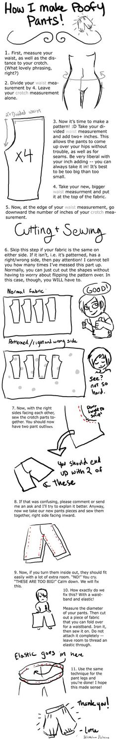 This is kind of huge and I apologize. My friend Soleil wanted a tutorial on how I made my Haku pants. This covers the basics. I'm making one about spirited away specific pants as we speak. Quite cl. Costume Tutorial, Cosplay Tutorial, Cosplay Diy, Pants Tutorial, Casual Cosplay, Diy Clothing, Sewing Clothes, Clothing Patterns, Sewing Patterns