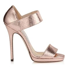 Jimmy Choo Lee Pink Metallic Ballet Sandals available for $548.00 (was $1,095.00)