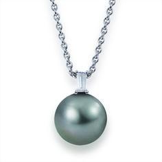 YANA NESPER Perlenanhänger mit Tahitiperle und Diamant aus der Kollektion Urban Nights http://www.yana-nesper.de/perlenschmuck/perlenanhaenger/un465 #Perlenanhänger #Tahitiperle #Perlenschmuck #Perlenkette