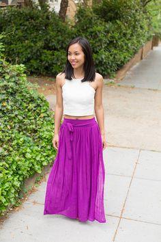 White Crop Top & Maxi Skirt - Kate Style Petite