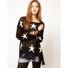 Wildfox Seeing Star Sweater ($352) found on Polyvore