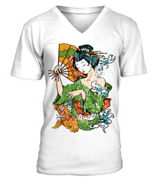 # Japanese Girl   Illustration V Neck Men Tees .  HOW TO ORDER:1. Select the style and color you want: 2. Click Reserve it now3. Select size and quantity4. Enter shipping and billing information5. Done! Simple as that!TIPS: Buy 2 or more to save shipping cost!This is printable if you purchase only one piece. so dont worry, you will get yours.Guaranteed safe and secure checkout via:Paypal | VISA | MASTERCARD