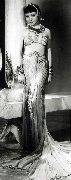Claudette Colbert in Cleopatra, 1934.