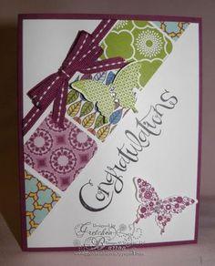 Papillon Potpourri, Sassy Salutations, International Bazaar dsp, & Elegant Butterfly punch. Thanks Gretchen!