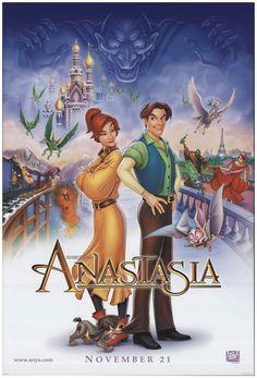 Animated Movie Posters, Disney Animated Movies, Original Movie Posters, Cartoon Movies, Disney Movies, Original Song, Anastasia Film, Anastasia Cartoon, Disney Anastasia