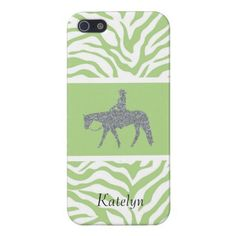 Western Pleasure Bling/Green iPhone 5/5S Case.  Many more matching items in my store. #WesternPleasureGift #HorseIphoneCases