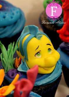 The Little Mermaid Cupcakes
