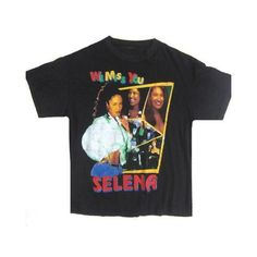 Vintage Selena Quintanilla We Miss You T-Shirt ❤ liked on Polyvore featuring tops, t-shirts, destroyed t shirt, ripped tee, distressed t shirt, torn t shirt and distressed top