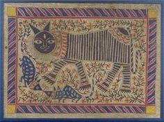 AnonymousA Cat, painting, BIHAR, INDIA