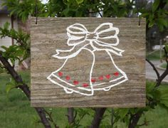 Wedding Bell Sign for Engagement Party or Wedding by SimmonsRanch. $32.00 USD, via Etsy.