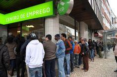 Desempregados inscritos nos centros de emprego em Portugal sobem em 25%